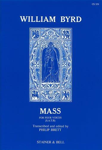 Byrd Mass For 4 Voices Brett Latin satb By William Byrd