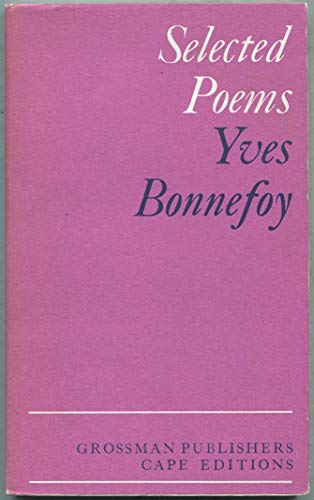 Selected Poems By Yves Bonnefoy