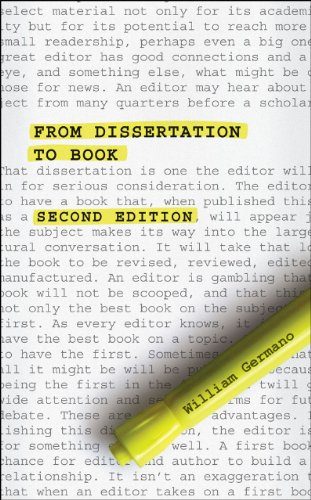 From Dissertation to Book By William Germano