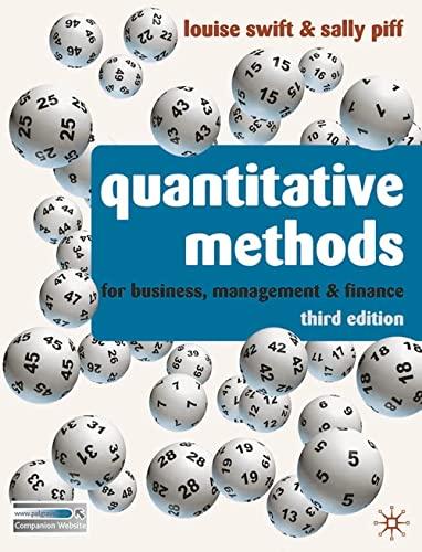 Quantitative Methods By Louise Swift