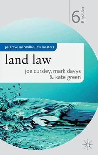 Land Law By Joe Cursley
