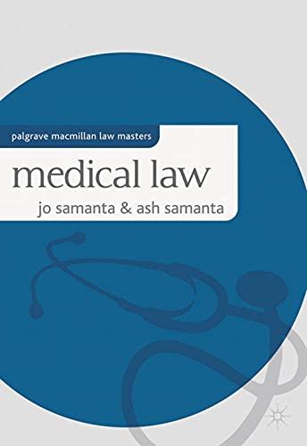 Medical Law By Jo Samanta