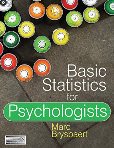 Basic Statistics for Psychologists By Marc Brysbaert