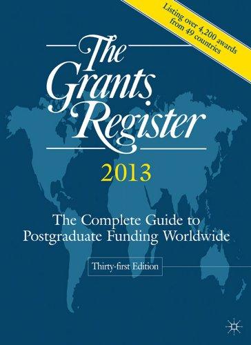The Grants Register 2013 By Palgrave Macmillan Ltd