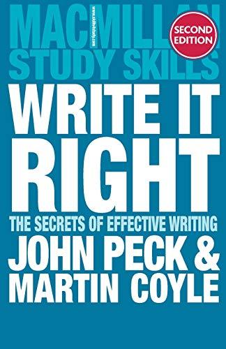 Write it Right By John Peck