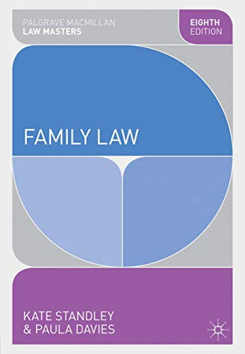 Family Law (Palgrave Macmillan Law Masters) By Kate Standley