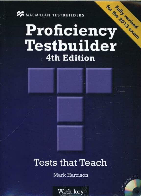 New Proficiency Testbuilder Student Book - Key + Audio CD Pack by Mark Harrison