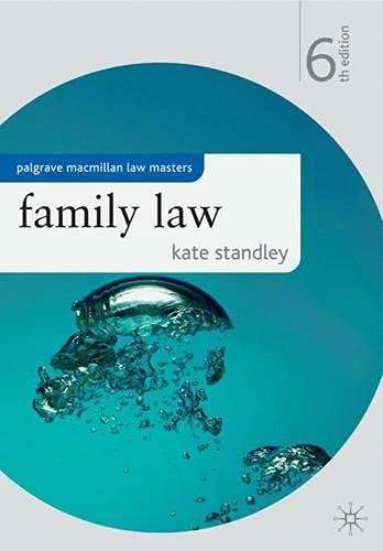 Family Law By Kate Standley