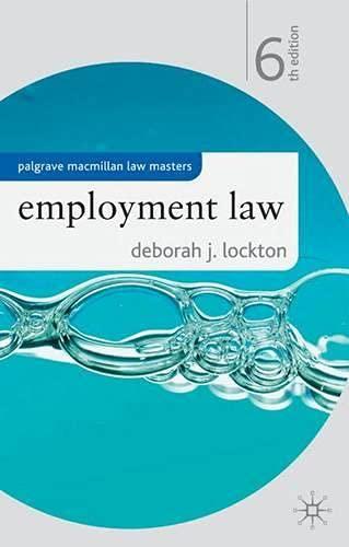 Employment Law By Deborah J. Lockton