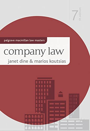 Company Law By Janet Dine