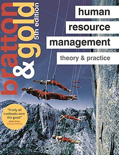 Human Resource Management By John Bratton