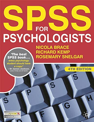 SPSS for Psychologists (0) By Nicola Brace