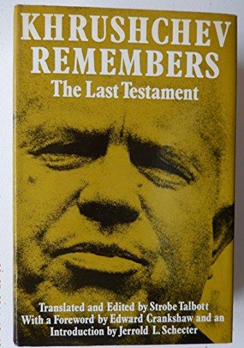 Khrushchev Remembers By Nikita S. Khrushchev