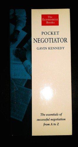 Pocket Negotiator By Gavin Kennedy