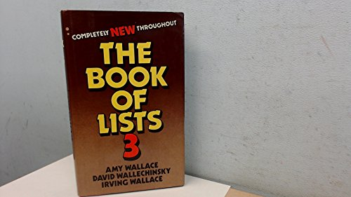 Book of Lists By Irving Wallace