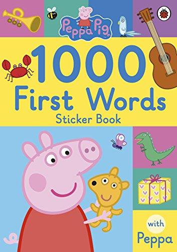 Peppa Pig: 1000 First Words Sticker Book By LADYBIRD