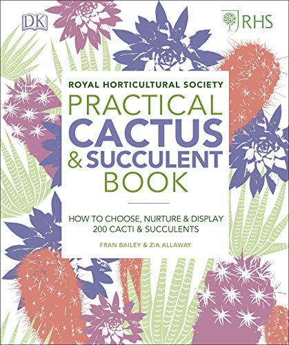 RHS Practical Cactus and Succulent Book By Zia Allaway