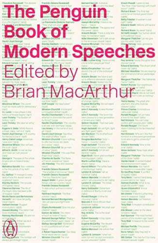 The Penguin Book of Modern Speeches By Edited by Brian MacArthur