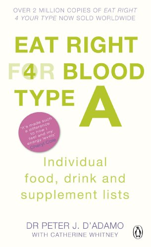 Eat Right for Blood Type A By Dr. Peter J. D'Adamo