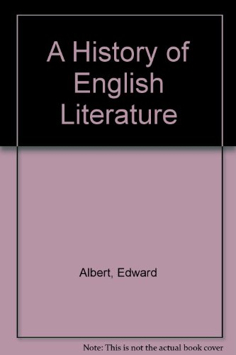 A History of English Literature By Edward Albert