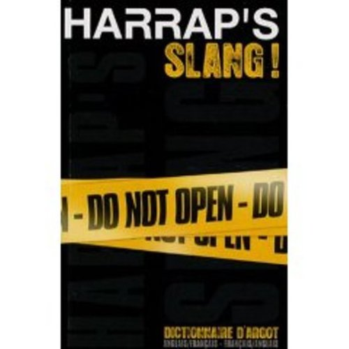 Harrap's Dictionary of Argot French English (Slang Dictionary) By Georgette Marks   Used - Well