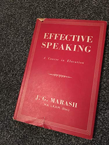 Effective Speaking by Jessie Grace Marash