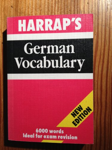 Harrap's German Vocabulary By Lexus