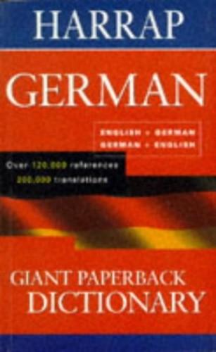 Harrap's Giant Paperback German Dictionary By Harrap