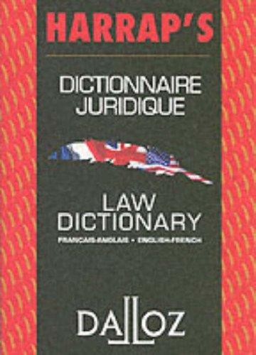 Harrap's Dalloz French English Law Dictionary By Harrap