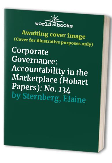 Corporate Governance By Elaine Sternberg
