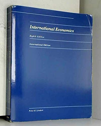 International Economics By Charles Poor Kindleberger