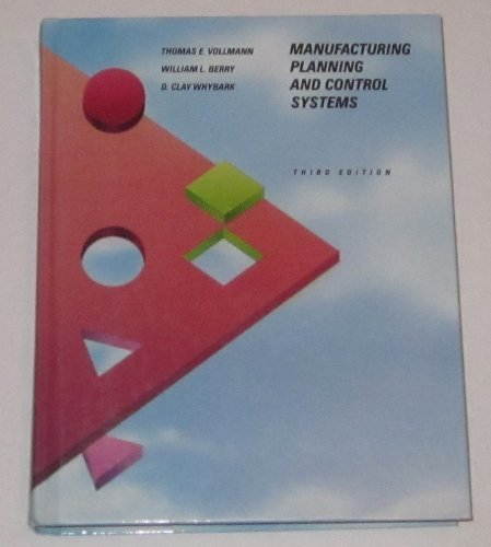 Manufacturing Planning and Control SystemsThird Edition By Vollmann