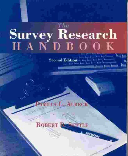 The Survey Res Hdbk Ppr By Alreck-Settle