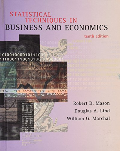 Statistical Techniques In Business And Economics By Robert Mason