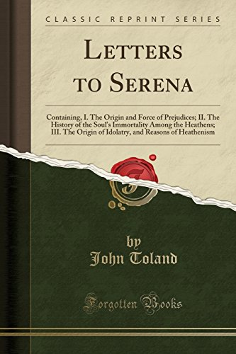 Letters to Serena By John Toland
