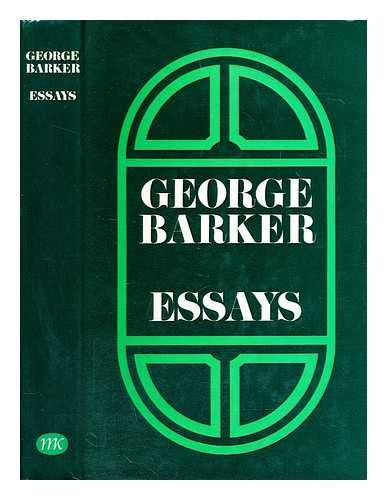 Essays By George Barker
