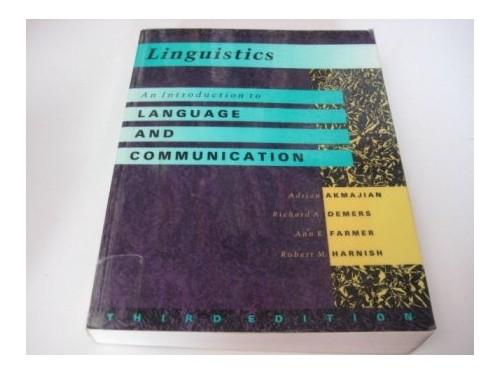 Linguistics By Adrian Akmajian