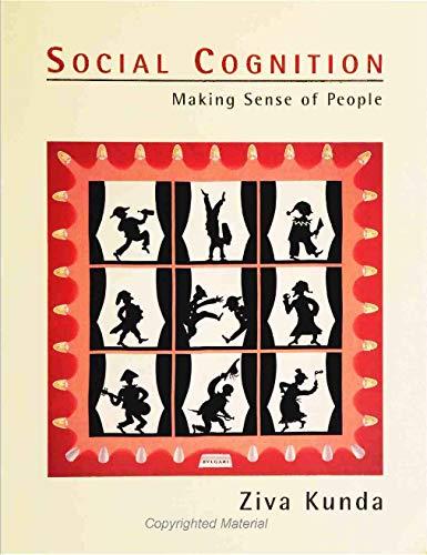 Social Cognition By Ziva Kunda
