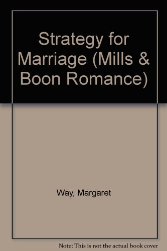 Strategy For Marriage By Margaret Way