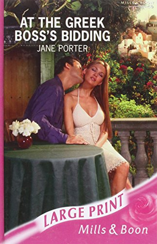 At The Greek Boss's Bidding By Jane Porter