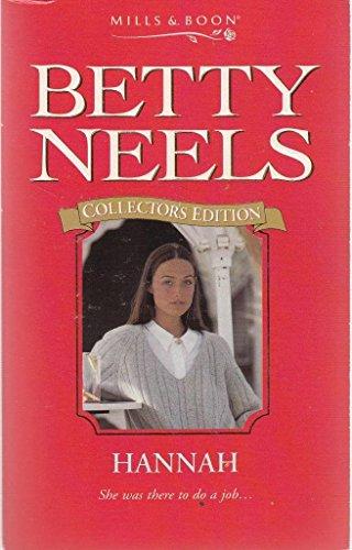Hannah By Betty Neels