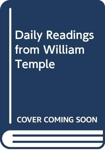 Daily Readings from William Temple By William Temple