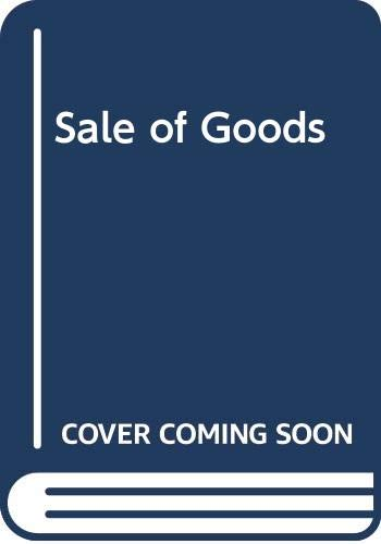 Sale of Goods By P. S. Atiyah