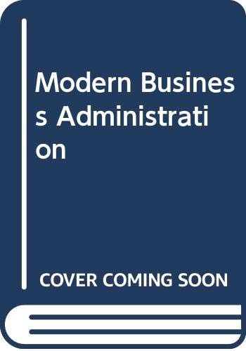 Modern Business Administration by Robert C. Appleby