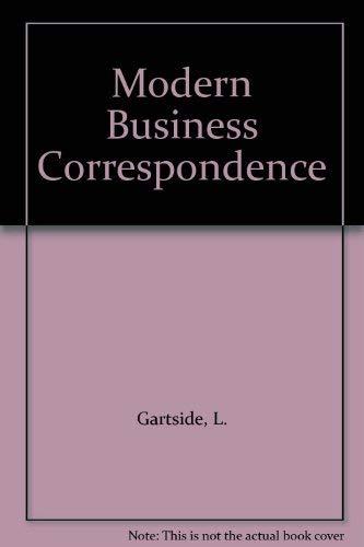 Modern Business Correspondence By L. Gartside