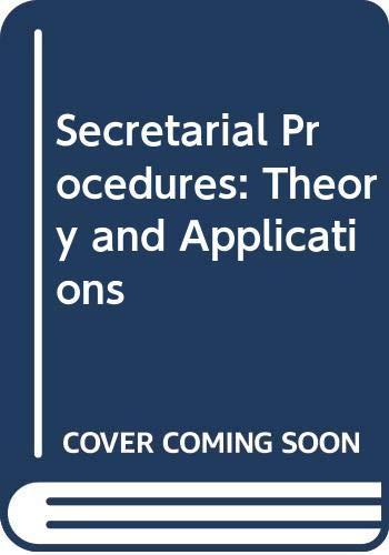 Secretarial Procedures By Helen Harding