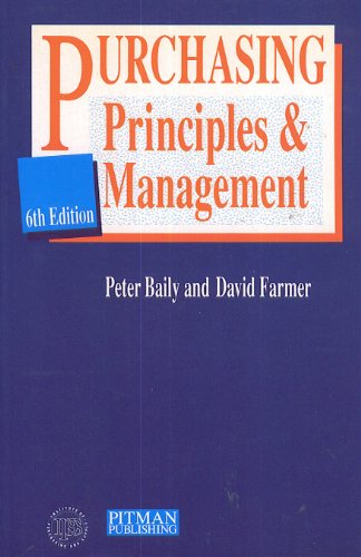 Purchasing Principles and Management By Peter Baily