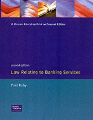 Law Relating to Banking Services By P. Raby