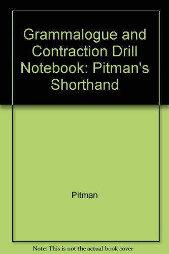 Pitman New Era Grammalogue And Contraction Drill Notebook By Pitman