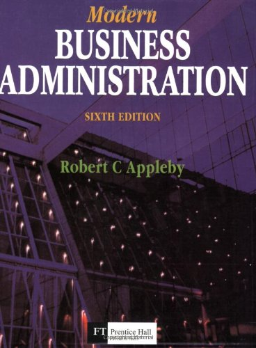 Modern Business Administration By Appleby